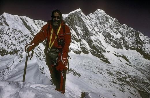 Chris Bonington na Menlungtse w 1988 roku, Chiny (fot. Chris Bonington Picture Library)