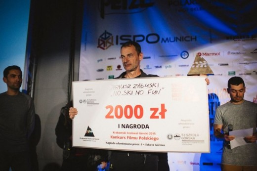 "Dariusz Załuski and the film ""No ski no fun"" - Best Polish Film Award (fot. Adam Kokot)"